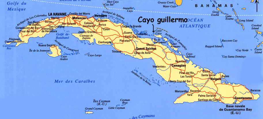 Carte Cuba Cayo Levisa.Infos Pratiques Cuba
